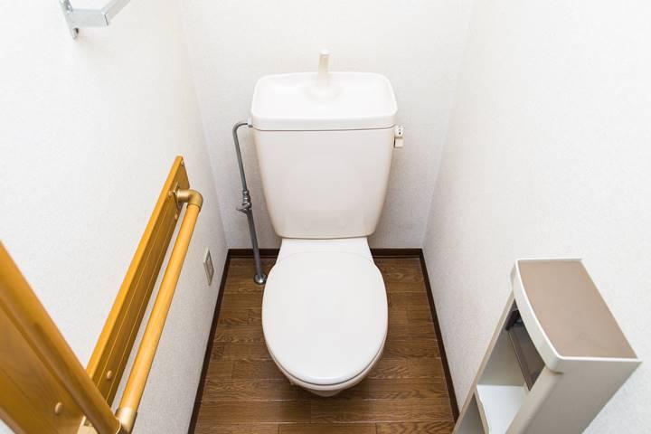 理学療法士が訪問で訪れる患者さんの家のトイレの画像
